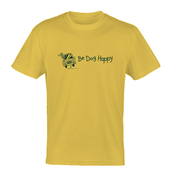 Be Dog Happy - Joyride yellow youth t-shirt