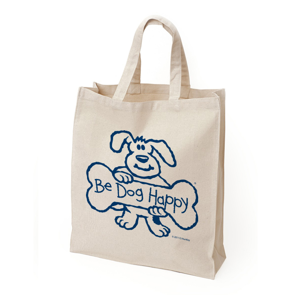 Be Dog Happy - natural tote bag