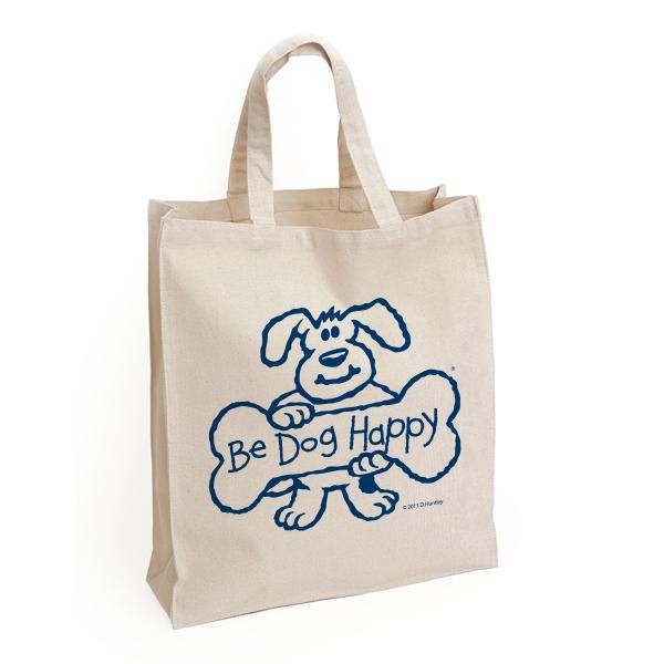 Be Dog Happy - natural tote bag
