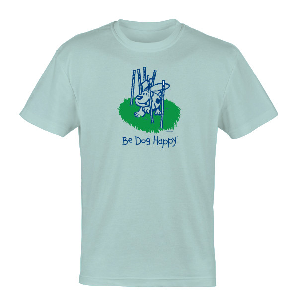Be Dog Happy - Dog and Weave t-shirt - front