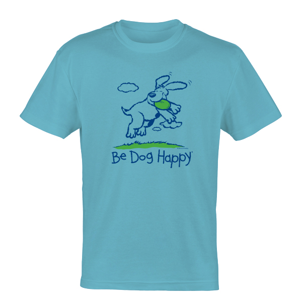 Be Dog Happy - Fabulous Frisbee Dog t-shirt