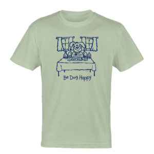 Bon Appetit Hopper tshirt - front view - from Be Dog Happy