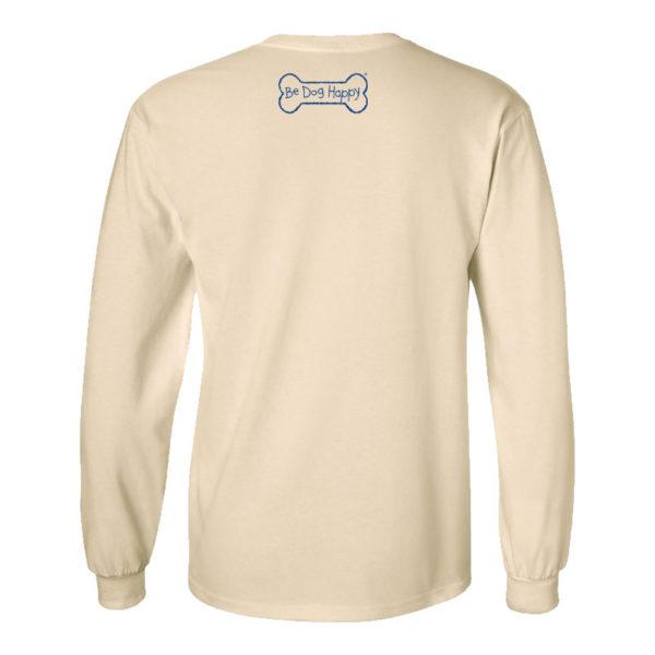 Be Dog Happy - Fall Frolic long sleeve t-shirt, back view
