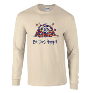 Be Dog Happy - Fall Frolic long sleeve t-shirt, front view