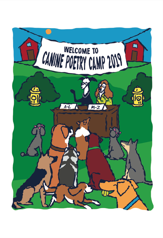Illustration from the book Canine Poetry Camp 2019: The Real Story